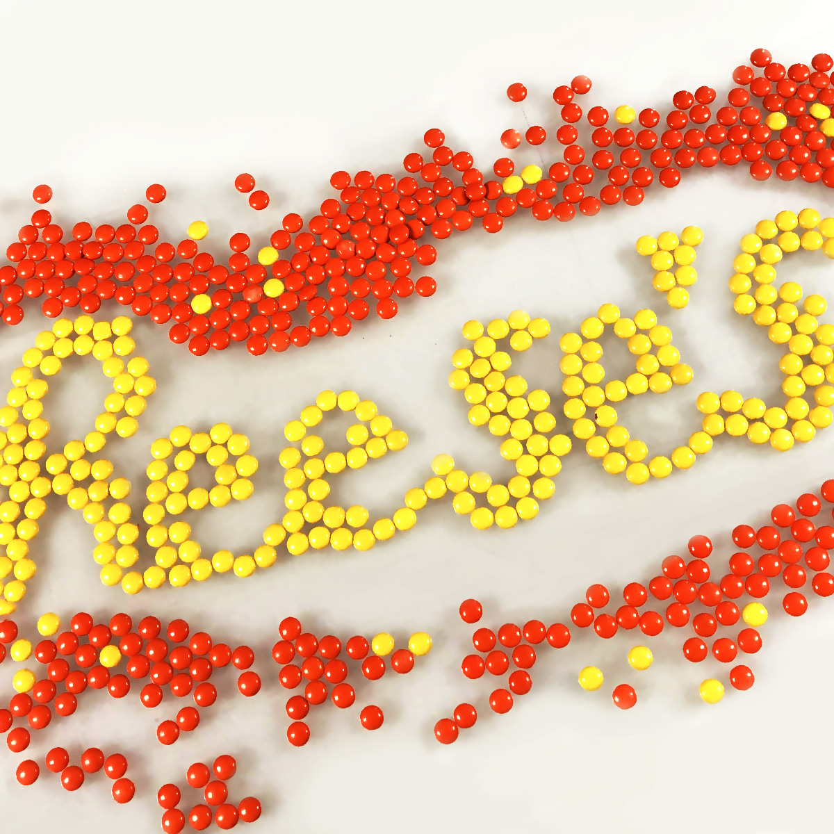Reeses pieces made with pieces